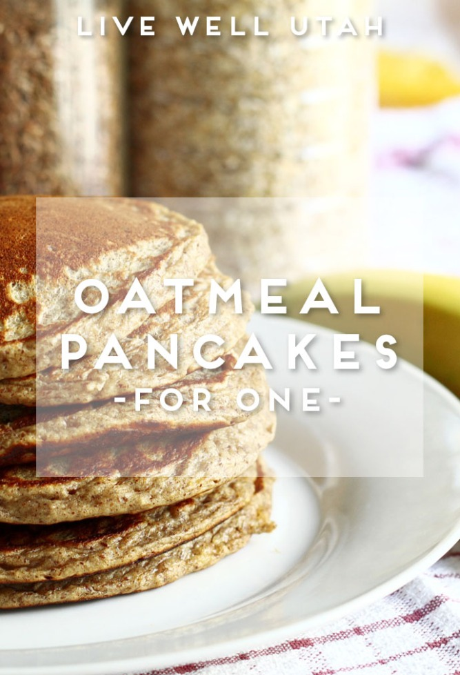 Oatmeal Pancakes for One